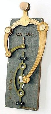 Green Tree Jewelry Single Toggle Grey Wood Light Switch Plate