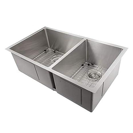 Undermount Double Kitchen Sink.Zline Executive Series 33 Inch Undermount Double Bowl Sink