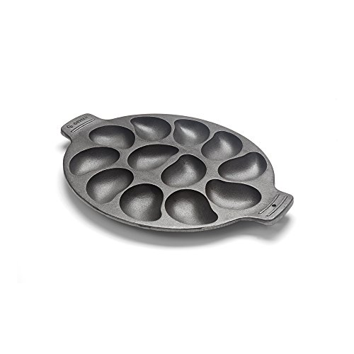 Outset 76225 Cast Iron Grill Slots, Cavities, Oyster Pan: 12 (Serving Platter Oyster)