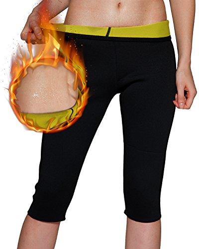 Rdfmy Women's Slimming Pants High Waist Body Shaper Neoprene Thermo Sweat Sauna Capris Leggings Shapewear XL - Capri Bodysuit