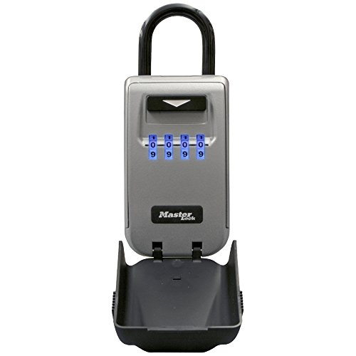 Master Lock 5424D Set Your Own Combination Portable Lock Box with Light Up Dials 6 Key Capacity