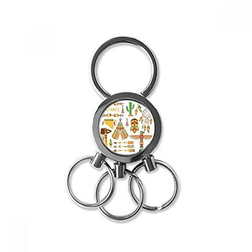 Totem Worship Native American Indian Dream Catcher Metal Key Chain Ring Car Keychain Creative Trinket Keyring Novelty Item Best Charm Gift from DIYthinker