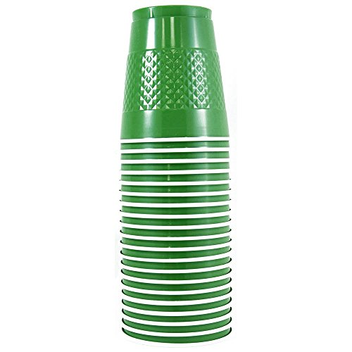 JAM Paper Plastic Cups - 12 oz - Green - 20/pack