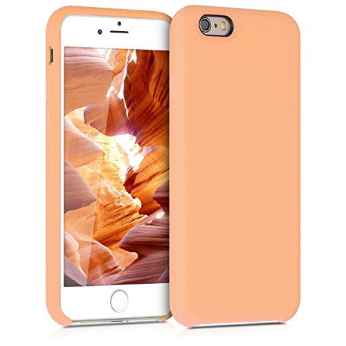 kwmobile TPU Silicone Case for Apple iPhone 6 / 6S - Soft Flexible Rubber Protective Cover - Peach