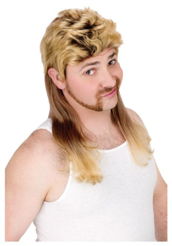 Super Mullet Wig Costume Accessory