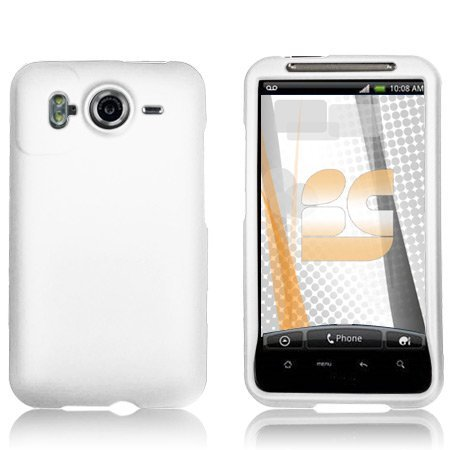 the latest c2a20 51d8d Amazon.com: White Rubberized Protector Case for HTC Inspire 4G: Cell ...