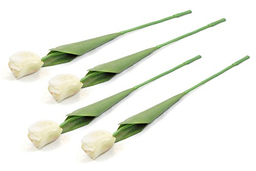 (DII 4 Piece Artificial Tulip - Natural Silk Flowers For Bridal Bouquet, Home Decoration, DIY, Arts & Crafts Project, Garden, Office Decor, Centerpiece Décor -)