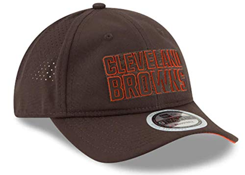 New Era Authentic Cleveland Browns 2018 Training Camp Brown Official 9TWENTY Adjustable Hat - OSFM