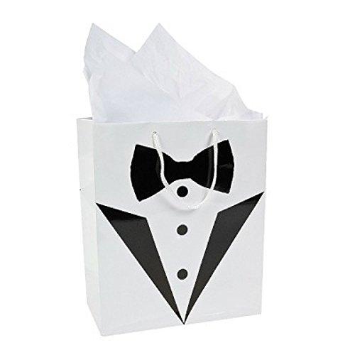 Tuxedo Gift Bags for Best Man, Usher, Groomsmen, Page Boy
