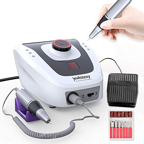 Professional Electric Nail Drill Machine 35000RPM E-file Electric Nail File Grinder Polisher Kit Manicure Pedicure Drill for Acrylic Nail Tools for Gel Nails 100-110V