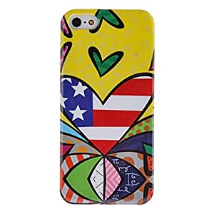 Colorful Heart Pattern Hard Case for iPhone 5/5S