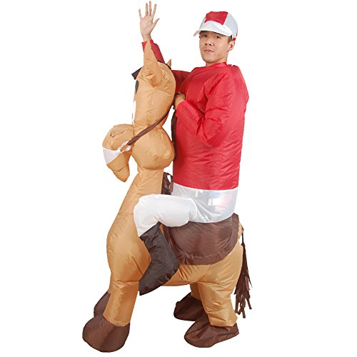 H&ZY Inflatable Halloween Costume Adult and Children Carry On Animal Fancy Dress Costumes Donkey