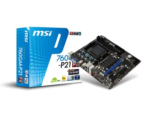 Photo - MSI Computer Corp. Motherboard North Bridge AMD 760G + South Bridge AMD SB710 Chipset Micro ATX DDR3 800 AMD - AM3+ Motherboards 760GM-P21 (FX)