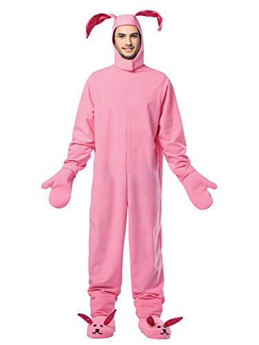 Bunny Costumes Adult (Rasta Imposta Men's Christmas Bunny, Pink, One Size)