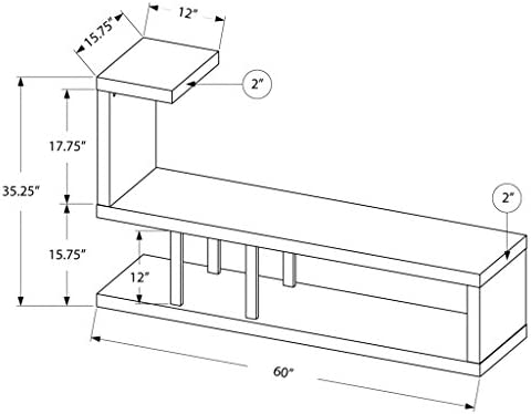 Monarch Hollow-Core TV Stand