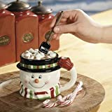 1 X Snowman Mug w/ Shovel Spoon - Christmas Decor
