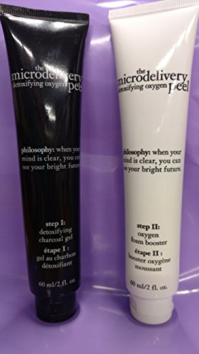Philosophy Microdelivery Detoxifying Oxygen Peel - Step 1 & 2 - 2oz each NO BOX