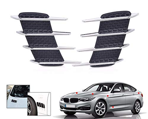 r Vent Fender Cover Hole Intake Duct Flow Grille Decoration Sticker for Mercedes Benz BMW Audi Toyota Nissan ()