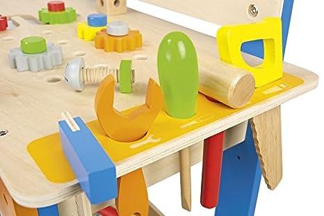 Banco Da Lavoro Black Decker Per Bambini : Leomark deluxe banco da lavoro in legno accessori e cassetta