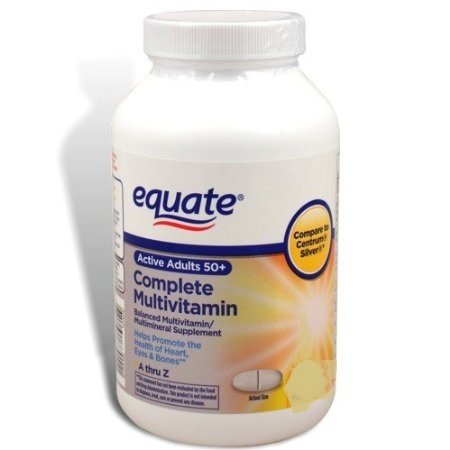 Equate Mature Adult 50+ One Daily Complete Multivitamin Compare to Centrum Silver (200 Ct) ( Pack of Two ) For Sale