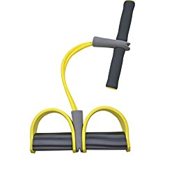 Creazy Pull Rope Training Fitness Equipment Fit for Situps Yoga Stretching Workout (Yellow)