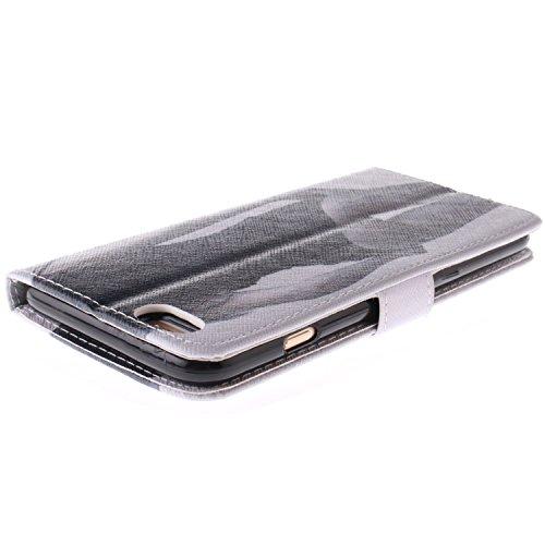 """MOONCASE iPhone 6 Case Magnetverschluss Leder Tasche Flip Case Cover Mit Standfunktion Kartenfächer Schutzhülle Etui Hülle Schale für iPhone 6 (4.7"""") -TX03"""