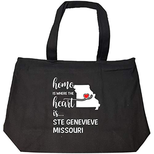 (Ste Genevieve County Missouri Is Where My Heart Is Gift - Tote Bag With Zip)