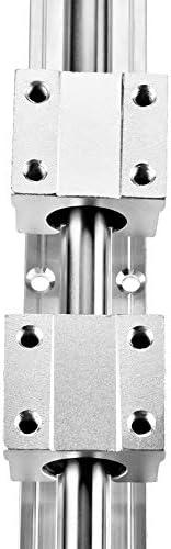 DJY-JY Linearführungen, 2 St. Linearschienenblock SBR10-400mm Linearführung Rod Welle mit 4ST Lagerblöcke for Textilmaschinen Büroausstattung