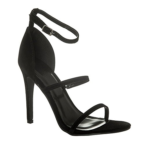 Tacón Miss Con Diva Mujer Zapatos Black Suedette w6xURwqrt
