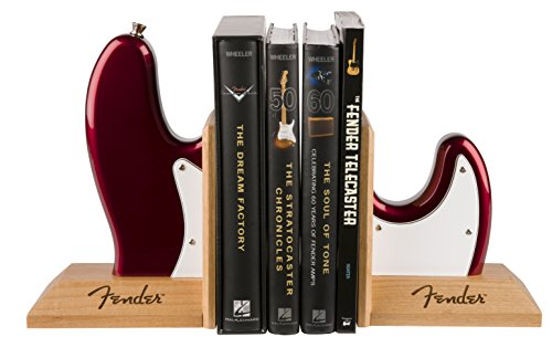 Fender Bass Guitar Body Bookends - Red
