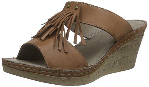 Manitu 900472 - Mules Mujer Marrón - marrón (marrón)