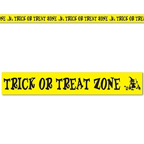 (Beistle Club Pack Halloween Trick or Treat Zone Party Tape, Box of)