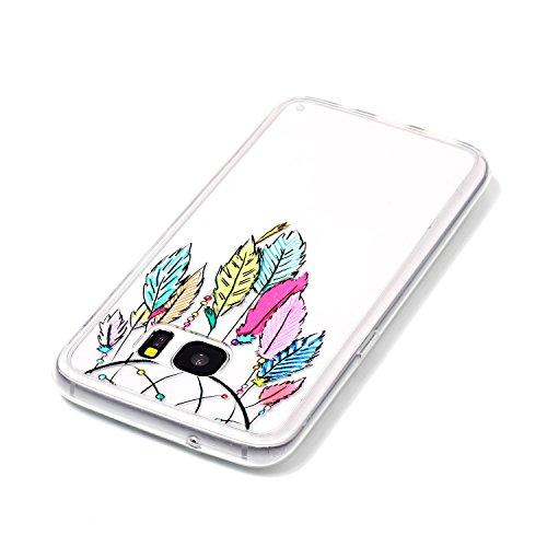 Funda Galaxy S7 edge,SainCat Moda Alta Calidad suave de TPU Silicona Suave Funda Carcasa Caso Parachoques Diseño pintado Patrón para Carcasas TPU Silicona Flexible Candy Colors Ultra Delgado Ligero Go Campanula