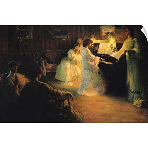 (CANVAS ON DEMAND Young Girls at a Piano, 1906