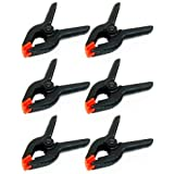 LimoStudio 6 PCS Black Nylon Muslin / Paper Photo Backdrop Background Clamps, 3.75 inch, AGG1242