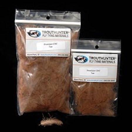 TroutHunter Premium Dyed CDC - 0.5g - Black - Fly Tying