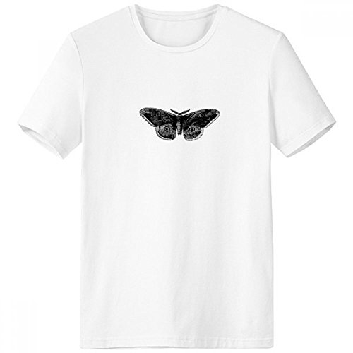 Kite Butterfly Clothing - Black Butterfly Kite Crew-Neck White T-shirt Spring Summer Tagless Comfort Sports T-shirts Gift