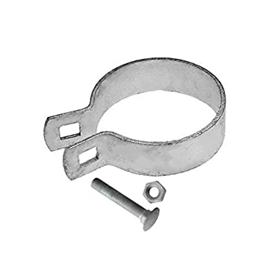 "V Gard Iron Galvanized Fence Brace Band 4"",No Burr,Bagged,2 Pack"