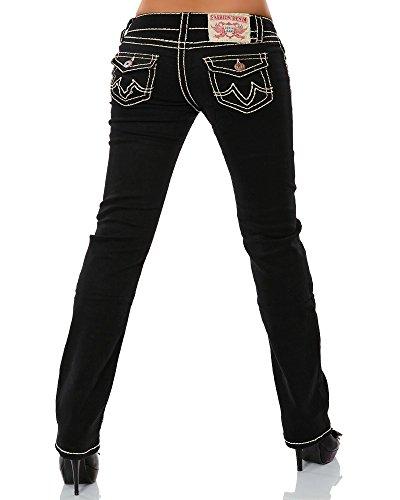 Straight droite pour Leg paisseur femme 17 couture Jeans Coutures 12923 No jambe Noir couleurs qwES4Rax