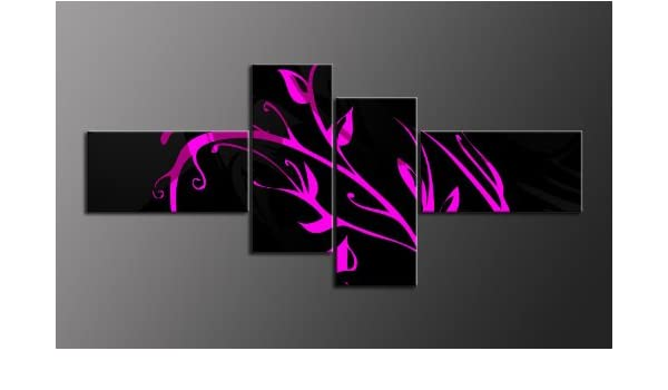 Top imagen sobre lienzo 4 imágenes Número de Referencia m42028 flor Style moderna imágenes enmarcado sobre auténtico bastidor. Enmarcado como imagen sobre Marco. Menos Que Pintura al óleo Póster Cartel con marco