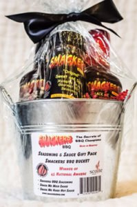 Smackers Memphis BBQ Seasoning and Sauces Gift Box Sweet and Spicy Gift Pail Barbecue Barbeque Memphis Gift Basket