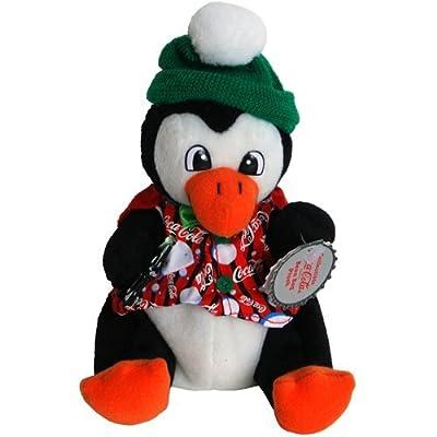 #0205 Coca-Cola Penguin in Striped Vest - Coke Bean Bag Plush: Toys & Games