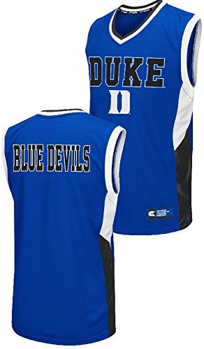 Duke Blue Devils Mens Royal Fadaway Embroidered Basketball Jersey by Colosseum (Large)