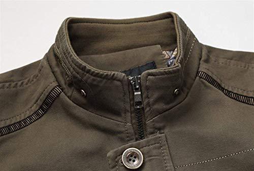 Coat Coat Ntel Outdoor Vintage Uomo Uomo Stand Armee Capispalla da Essenziale Fashion Giacche Outdoor Hiking Collar Giacca da Casual Uomo Longsleeve 4q1Yn7R