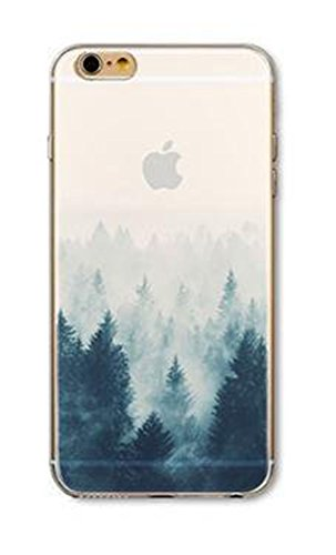 iPhone 6 / 6S Case, Deco Fairy Ultra Slim Rubber Silicone TPU Back Cover for Apple - Trees in Snowy Winter