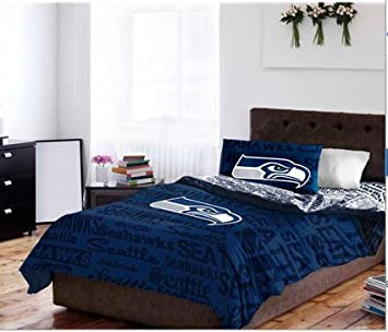 Amazon.com: Seattle Seahawks Queen Comforter Set (5 Piece Bed In A ...