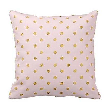 Polka Dot Pillowcases Awesome Amazon Polyester Pillowcases Stylish Chic Girly Blush Polka