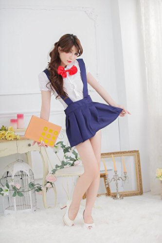 Cosplay Studenti Femminile Bar Blu Shangrui Abbigliamento Loaded Pure W575 Cinghie Pigiama Cameriere wpnXIq