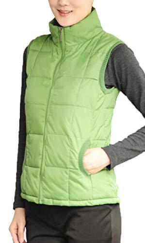Women's Stand Green Down EKU Collar Vest Jacket Slim Fit Outerwear Padded Lightweight q5p4dW