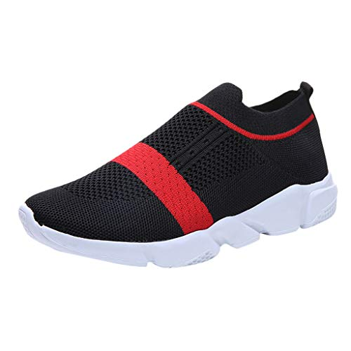 (Toimothcn Women's Sneakers Casual Lightweight Athletic Sport Gym Slip on Walking Tennis Shoes (Black1,US:8))